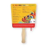 SEVEN locations or SEVEN color imprint - Single Paddle Fans - 10 fan minimum - price break at 125 fans