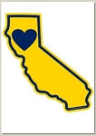 Holiday Cards - Regional Christmas Collection - HEART IN CALIFORNIA