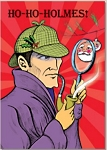 Holiday Cards - Humorous Christmas Cards - HO-HO-HOLMES