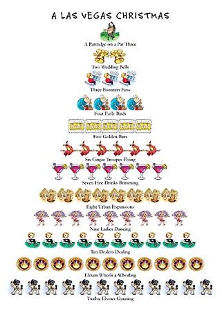 Holiday Cards - 12 Days of Christmas - LAS VEGAS - NEVADA