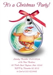 Invitations - Holiday Themed Invites - Surfing Santa