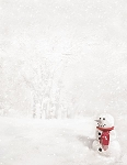 HOLIDAY PAPER - Snowman with Red Scarf