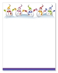HOLIDAY PAPER - Row of Snowmen