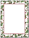 HOLIDAY PAPER: Holly and Ivy Border