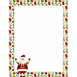 HOLIDAY PAPER - Multi Stripe Santa