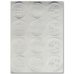 Envelope Seals with Embossed Holiday Designs - silver - Pack of 24