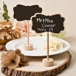 RUSTIC CHALK BOARD PLACECARD HOLDERS
