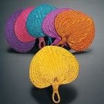 RAFFIA FANS IN COLORS
