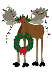 Holiday Cards - Nature - DECK THE MOOSE