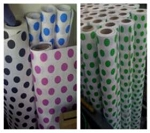 Polka Dot Paper Banquet Rolls - 100 or 300 foot roll