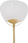 Paper Paddle Fan with Bamboo Staves