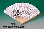JUMBO random design paper fan with bamboo frame