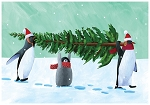 Holiday Cards - Nature - PENGUIN TREE