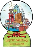 Holiday Cards - Regional Greeting Card - PHILLY SNOWGLOBE
