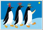 Holiday Cards - Nautical Cards - WE THREE PENGUINS