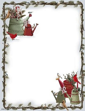 CHRISTMAS PAPER - Festive Watering Cans