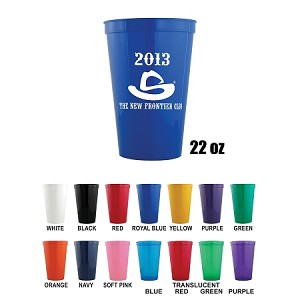 22oz Plastic Stadium Cups
