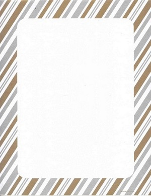 GENERAL DESIGN:  Silver and Gold Metallic