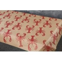 Brown paper LOBSTER roll with stock lobster imprint - 100 or 300 foot roll