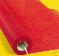Red Carpet - 15' Red Non-woven Runner