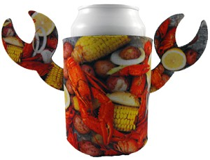 Can Coolers - FULL COLOR CRAWFISH-LOBSTER DINNER - CLAW COOZIES