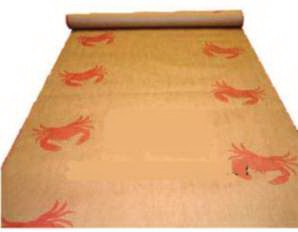 Brown paper crab roll with stock crab imprint - 100 or 300 foot roll