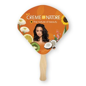 EIGHT locations or EIGHT color imprint - SANDWICH Paddle Fans - 10 fan minimum - price break at 125 fans