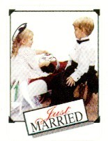 Full Color Just Married Seals, 25 per sheet