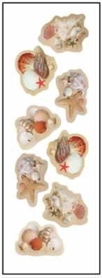 Full Color Seashell Stickers