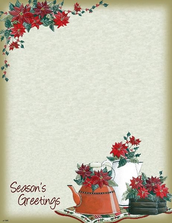 CHRISTMAS PAPER - Poinsettias Holiday