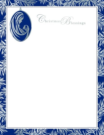 HOLIDAY PAPER - Madonna and Child Ornament Foil