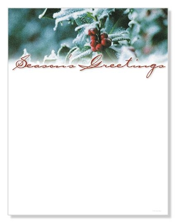 HOLIDAY PAPER - Holly and Berries