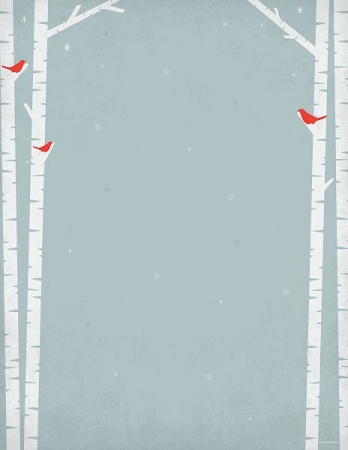 HOLIDAY PAPER - Birch Tree Silhouette