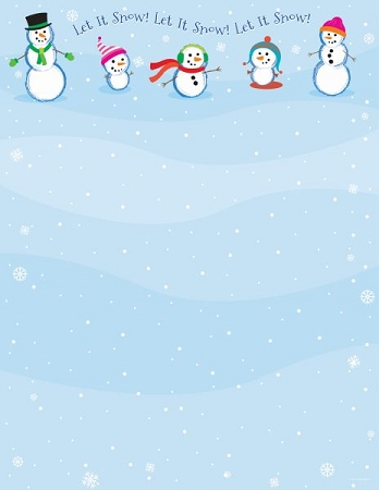 HOLIDAY PAPER - Let It Snowmen