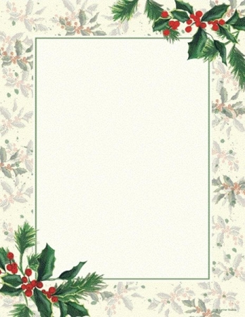 HOLIDAY PAPER - Painterly Holly