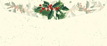 HOLIDAY ENVELOPES:  Painterly Holly