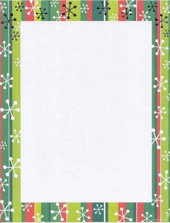 HOLIDAY PAPER: Red & Green Stripes with silver foil flakes