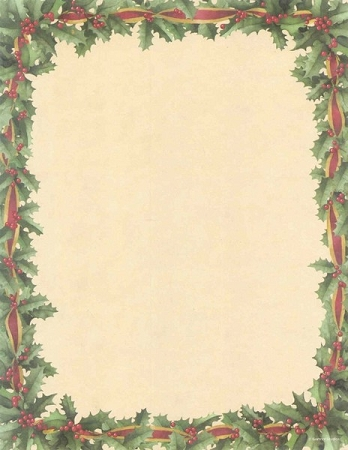 HOLIDAY PAPER: Red Ribbon and Holly
