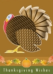 Holiday Cards - Thanksgiving Collection - Artful Thanksgiving Wishes