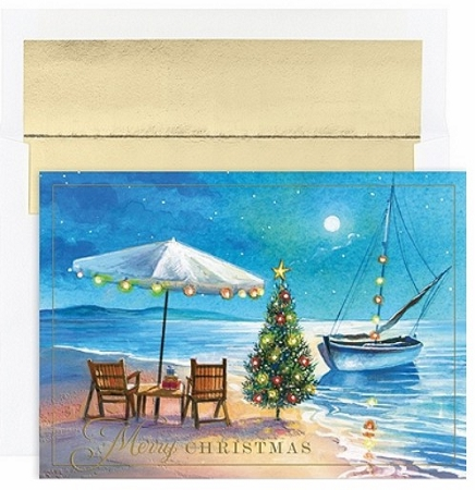 Holiday Cards - Regional Holiday Collection - Christmas Morning at the Beach