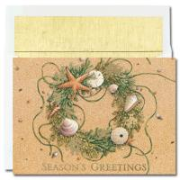 Holiday Cards - Regional Holiday Collection - Beach Wreath
