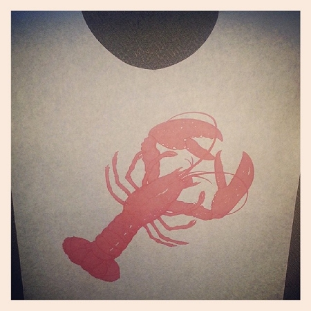 Lobster Bib - Paper with Poly Backing with ties