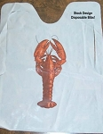 Plastic Bibs - STOCK LOBSTER/CRAWFISH DESIGN