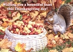 Holiday Cards - Thanksgiving Collection - Bountiful Feast