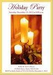 Invitations - Holiday Themed Invites - Candle Light