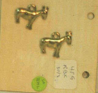 GOLD DONKEY CHARMS