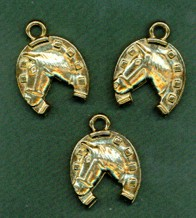GOLD HORSESHOE CHARMS