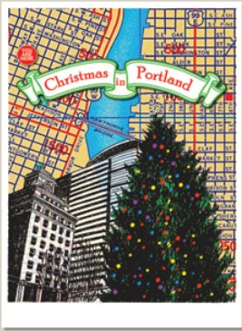 Holiday Cards - Regional Christmas Collection - CHRISTMAS IN PORTLAND