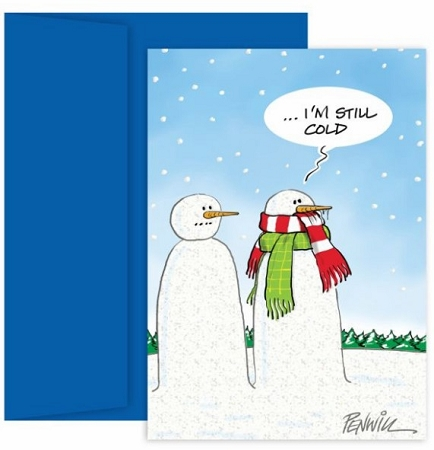 Holiday Cards - Regional Holiday Collection - Cold Snowman