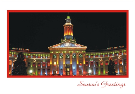 Holiday Cards - Regional Christmas Collection - Denver Lights